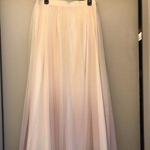 Lauren Conrad Ombré Tulle 3/4 length Maxi Skirt!